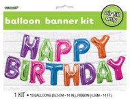 "14"" (35.5cm) ""Happy Birthday"" Kit - Air Inflation"