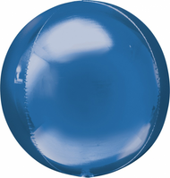 "Round Foil ""Blue Orbz"" - Flat Pack of 3"