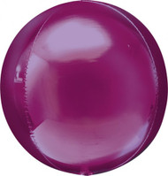 "Round Foil ""Fuchsia Orbz"" - Flat Pack of 3"