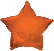 43cm Solid Orange Star - INFLATED