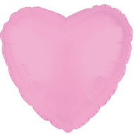 43cm Solid Light Pink Heart - INFLATED