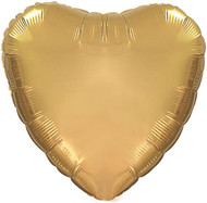 43cm Inflated Foil Heart - Gold