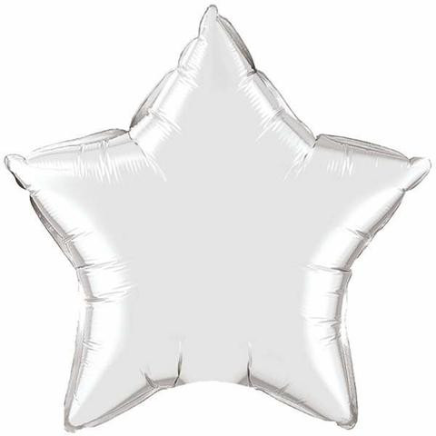 Inflated 90cm Silver Foil Star