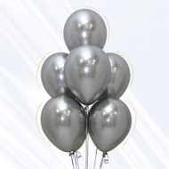 30cm Chrome Silver Latex - Inflated Each