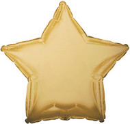 43cm Solid Gold Stars - Flat Pack of 5