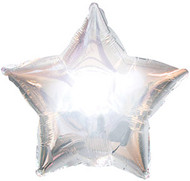 43cm Solid Silver Stars - Flat Pack of 5
