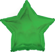43cm Solid Green Stars - Flat Pack of 5