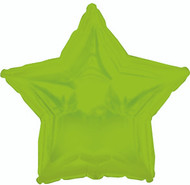 43cm Solid Lime Green Stars - Flat Pack of 5