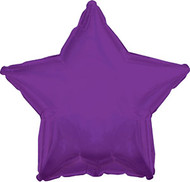 43cm Solid Purple Stars - Flat Pack of 5