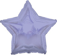 43cm Solid Lavender Stars - Flat Pack of 5