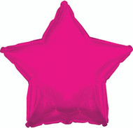 43cm Solid Hot Pink Stars - Flat Pack of 5