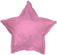 43cm Solid Light Pink Stars - Flat Pack of 5