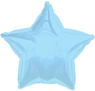 43cm Solid Light Blue Stars - Flat Pack of 5