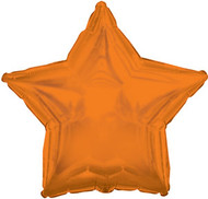 43cm Solid Orange Stars - Flat Pack of 5