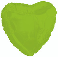 43cm Solid Lime Green Hearts - Flat Pack of 5