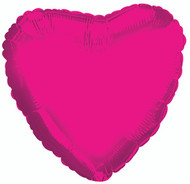 43cm Solid Hot Pink Hearts - Flat Pack of 5