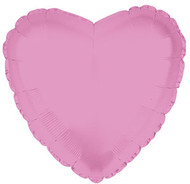 43cm Solid Light Pink Hearts - Flat Pack of 5