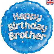 Happy Birthday Brother - 45cm Flat Foil