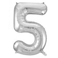 #5 Silver - Inflated 86cm Shape