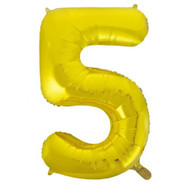#5 Gold - Inflated 86cm Shape