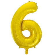 #6 Gold - Inflated 86cm Shape