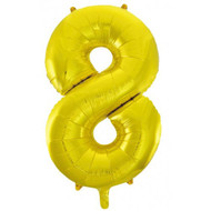 #8 Gold - Inflated 86cm Shape