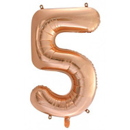 #5 Rose Gold - Inflated 86cm Shape