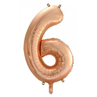 #6 Rose Gold - Inflated 86cm Shape