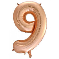 #9 Rose Gold - Inflated 86cm Shape