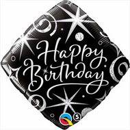 "Happy Birthday ""Elegant"" - 45cm Inflated Foil"