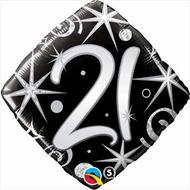 #21 Elegant - 45cm Inflated Foil