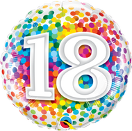 #18 Confetti - 45cm Inflated Foil