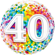 #40 Confetti - 45cm Inflated Foil