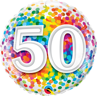#50 Confetti - 45cm Inflated Foil