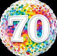 #70 Confetti - 45cm Inflated Foil