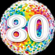 #80 Confetti - 45cm Inflated Foil