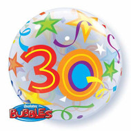 #30 Brilliant Stars - Inflated 56cm Bubble