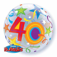 #40 Brilliant Stars - Inflated 56cm Bubble
