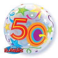 #50 Brilliant Stars - Inflated 56cm Bubble
