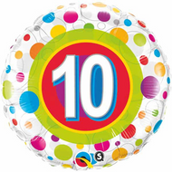 #10 Polka Dot - Inflated 45cm Foil