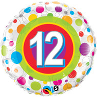 #12 Polka Dot - Inflated 45cm Foil