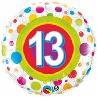 #13 Polka Dot - Inflated 45cm Foil