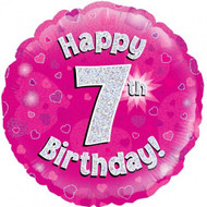 #7 Birthday Pink - Inflated 45cm Foil