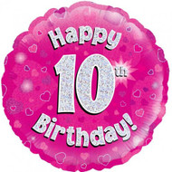 #10 Birthday Pink - Inflated 45cm Foil