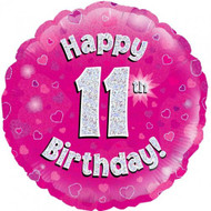 #11 Birthday Pink - Inflated 45cm Foil