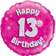 #13 Birthday Pink - Inflated 45cm Foil
