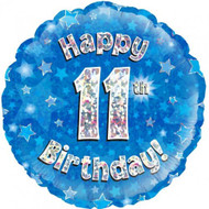 #11 Birthday Blue - Inflated 45cm Foil