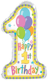 #1 Birthday Pastel - Inflated Shape