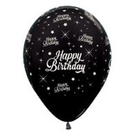 30cm Birthday Print - Black