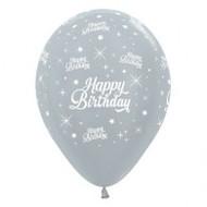 30cm Birthday Print - Silver